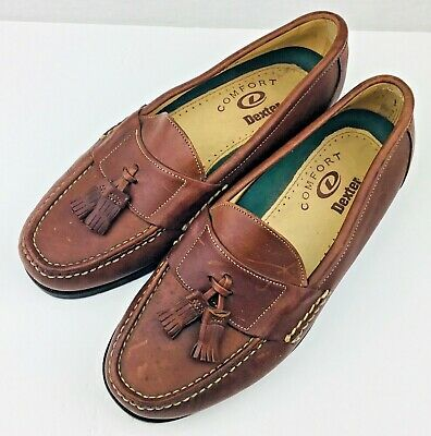 Dexter Top Grain Brown Leather Tassel Loafers Hand Sewn ...