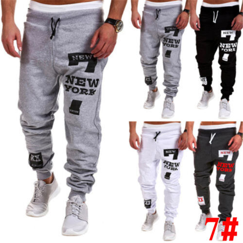 Men Jogging Sports Running Sweat Pants Tracksuit Bottoms Jogger Casual Trousers
