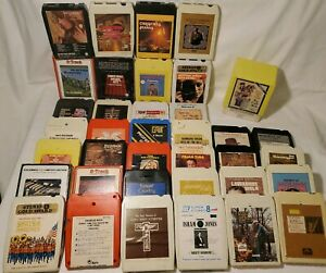 Estate-Lot-of-39-Untested-Used-8-Track-Tapes-Sinatra-Welk-Tubb-039-s-Lombardo