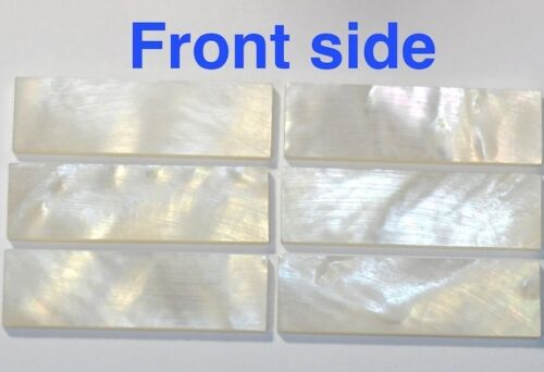 5 Blocks 28 x 22 x 1.5mm Inlay Material White Mother of Pearl Shell Blanks #FR28