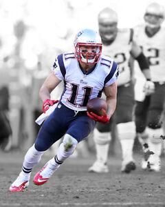 Image is loading New-England-Patriots-JULIAN-EDELMAN-Glossy-8x10-Photo- 77d3b4a59