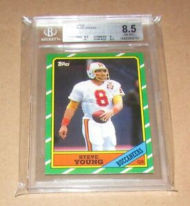 1986-Topps-374-Steve-Young-BGS-8-5-NM-MT-Fast-Shipping