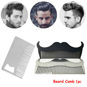 Stainless-Steel-Beard-Comb-Anti-static-Hair-Mustaches-Brush-Styling-Tool-pro