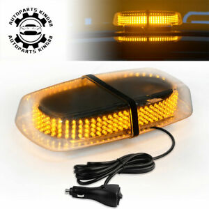 240-LED-15W-Roof-Top-Emergency-Beacon-Hazard-Flash-Strobe-Mini-Light-Bar-Amber
