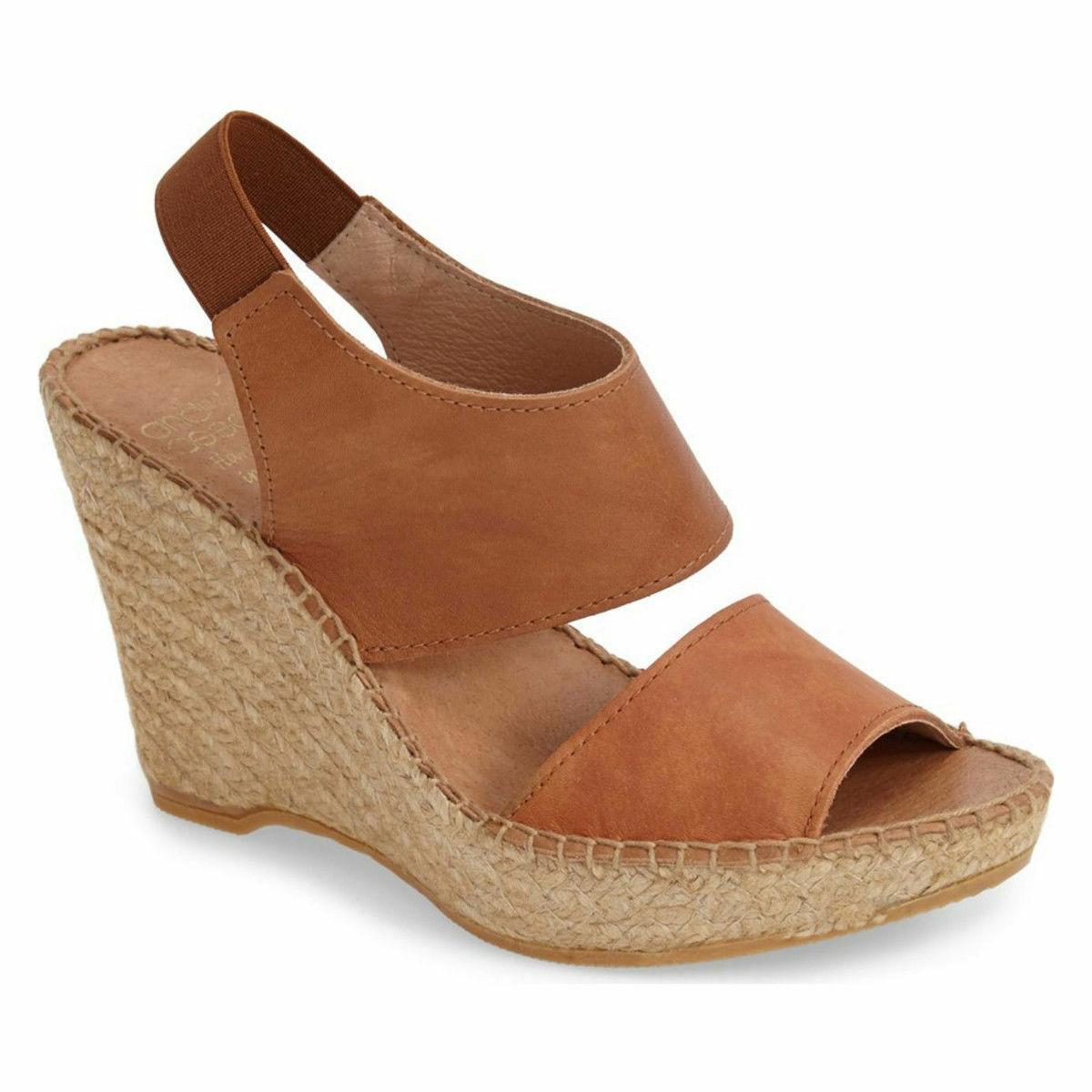 Nya Andre Assous Reese läder Wedge Sandals (Storleks (Storleks (Storleks 8 -9 -10. Handgjorda i Spanien  extremt låga priser