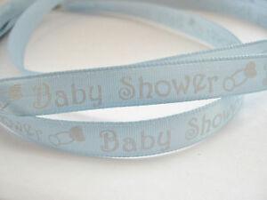 Baby-Shower-Ribbon-3-Metres-10ft-Baby-Boy-Ribbon-Blue-Satin-Ribbon-Gift-Wrap