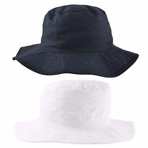 dfaba2d02ab0 Details about Kids Sun Hat Boys Girls Summer Beach Hat Cotton Bucket Wide  Brim Toddler 1-8 Yrs