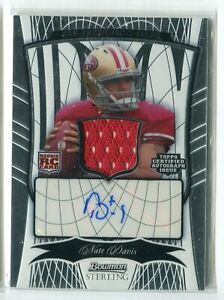 check out 27ab8 d7064 Details about 2009 Bowman Sterling Nate Davis JERSEY RELIC AUTO ATUOGRAPH  RC 57/250 49ERS