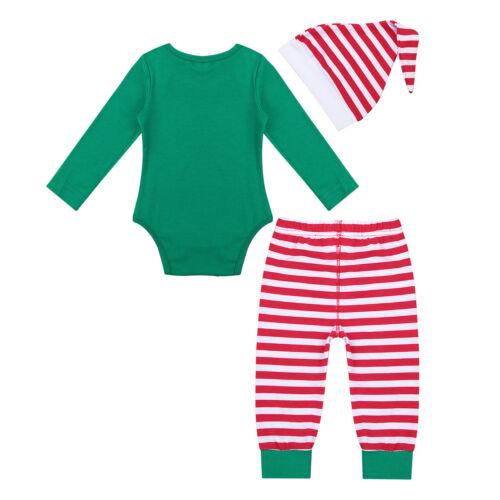 Noël Bébé Garçon Enfants Costume à manches longues ANGE Pantalon Chapeau Tenues Vêtements