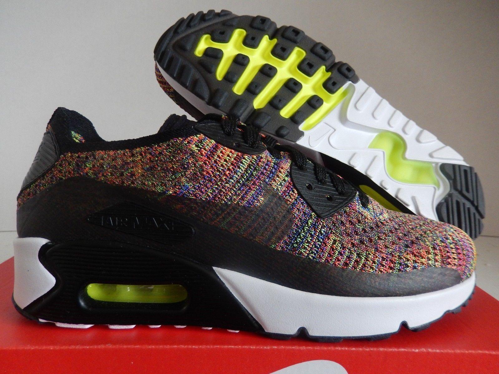 Nike air max 90 ultra flyknit uomini neri / raggiante (875943-002 sz 13)