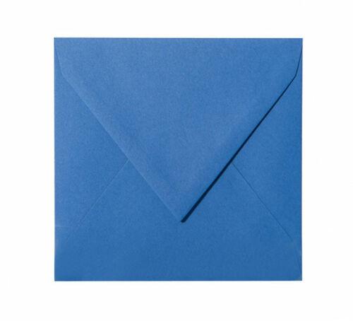 Briefumschläge 25 St Ozean Blau feuchtklebend 15 x 15 cm 150 x 150 mm