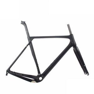Carbon-Gravel-Frames-Disc-Brake-Road-Bike-Cyclocross-Frameset-UD-Matte-Thru-Axle