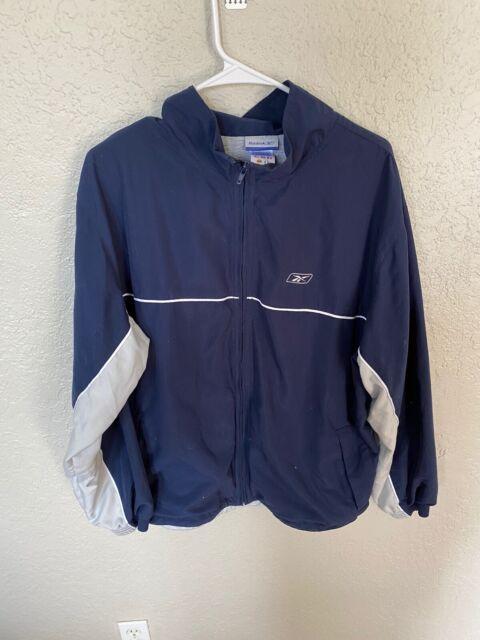 Reebok Wind Track Jacket Vintage 90's Men's L Blue White Grey Retro 01