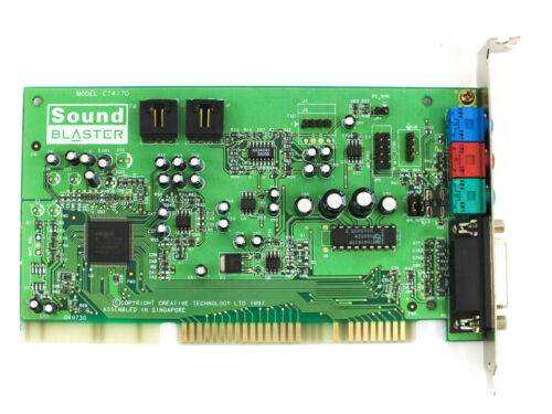 TESTED Game Port Creative Labs CT4170 16-Bit ISA Sound Blaster 16 Sound Card