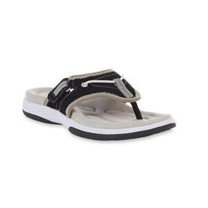f2b9ab4282c6 Athletech Women s Elynn Sport Sandal Slippers Flip Flop Black Grey ...