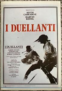 Das Beste Poster Plakat Aufkleber Sticker 1977 Keith Carradine Harvey Keitel I Duellanti Weder Zu Hart Noch Zu Weich Filme & Dvds Film-fanartikel