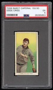 Rare 1909-11 T206 Dode Criss Sweet Caporal 150 St Louis PSA 5 EX