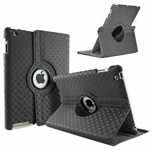 BLACK-Diamond-Fashion-Leather-360-Rotating-Stand-Case-Cover-For-iPad-2-3-4-UK