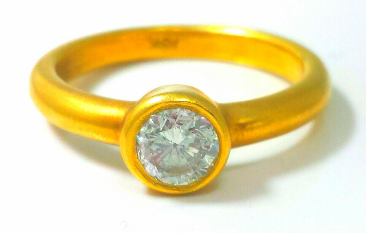 0.35ct Antique Style 18K Yellow gold Natural EX Women's Diamond Engagement Ring