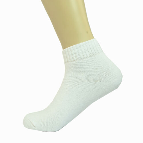3-12 Pairs White Ankle Quarter Mens Sport Athletic Casual Cotton Socks Size 9-11