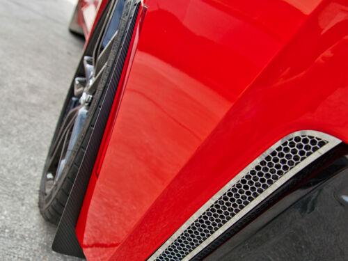 Corvette Stingray Mud Guards 4Pc with Carbon Fiber Wrap 2014 C7