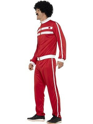 Mens 80s 1980s Track Suit Fancy Dress Costume Scouser Tracksuit New by Smiffys