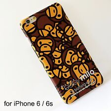 A Bathing Ape Bape Milo Brown Hard Back Cover Silicone Case For iPhone 6 / 6s