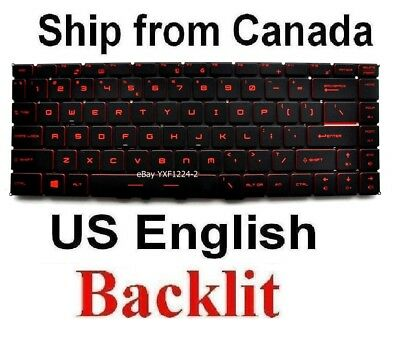 US English Backlit Keyboard for MSI MS-16P5 MS-16P6 MS-1675 MS-16K2 MS-16K4