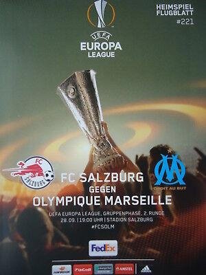 Programm UEFA EL Finale 2018 Olympique Marseille Atletico Madrid off