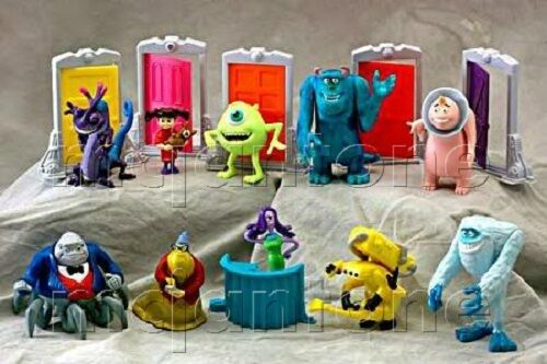 MIP SET 10 McDonald's 2001 MONSTERS INC. Sulley YETI Boo DOORS Roz COMPLETE