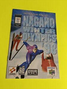 Nagano WINTER OLYMPICS '98 Instruction Booklet Manual Original Book Nintendo N64
