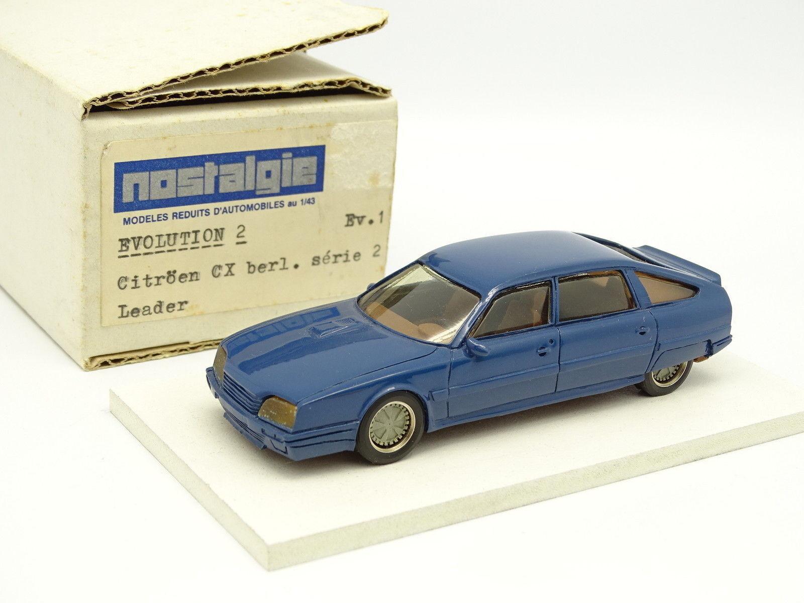 Nostalgie Heco Modellle Harz 1 43 - Citroen Cx Serie 2 Blau