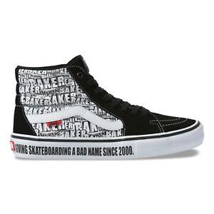 Details zu VANS x Baker SK8 Hi Pro   Mens Skate Shoes   Black White