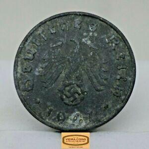 EACH LOT TEN COINS GERMANY 1 REICHSPFENNIG 10 ZINC RANDOM COINS 1940-1944