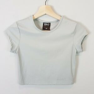 ECHT-Womens-Grey-crop-Top-As-new-Size-XS-or-AU-8-US-4