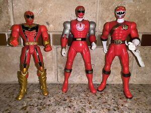 Power Rangers Ninja Storm+ Red Ranger Action Figure Lot of 3 # 0807