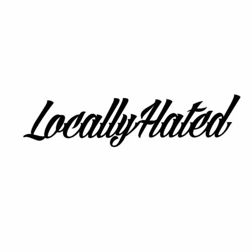 Locally Hated Letters Reflective Car Vehicle Body Window Decals Sticker Decor