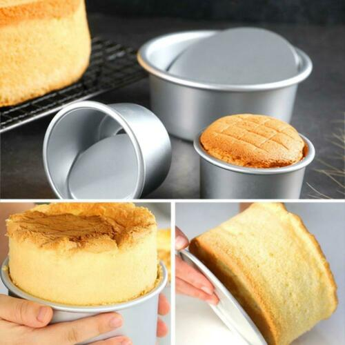 2//4//5 inches Round Mini Cake Pan Removable Bottom Pudding Baking DIY Mold R4Y3