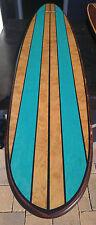 Stunning 7FT Wood Hawaiian Surfboard Bartop Tabletop wall board