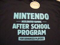 Nintendo After School Program Advanced Players T Shirt L