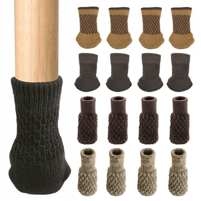 Antiskid Chair Socks Table Foot Leg Knit Pad Floor Cover Furniture Protector BL