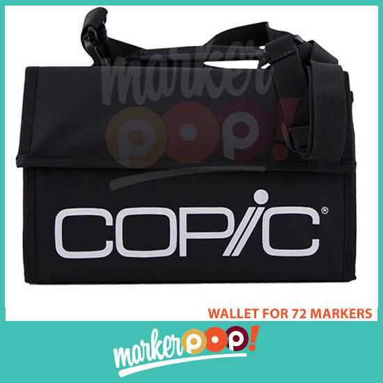 10 24,36,72 Marker Bags Empty Case For Copic and Promarker Markers BLACK