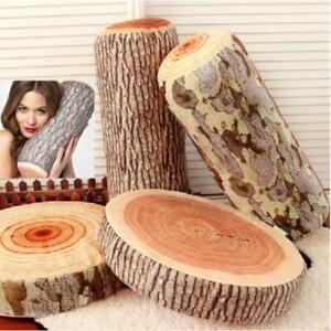 Car-Neck-Pillow-Cushion-Bolster-Soft-Pillow-Wood-Vivid-Log-Tree-Stump-Design-LC