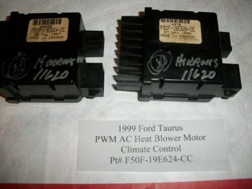 1999 Ford Taurus PWM AC Heat Blower Motor Climate Control  F50F-19E624-CC #HS009