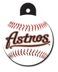 Details about MLB Houston Astros Pet ID Tag fast ssh