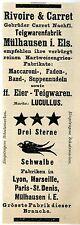 Rivoire & Carret Mülhausen i. Els. Teigwarenfabrik Historische Reklame 1908