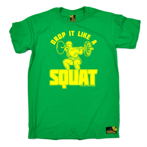Drop It Like A Squat MENS SWPS T-SHIRT birthday gift workout gym training top