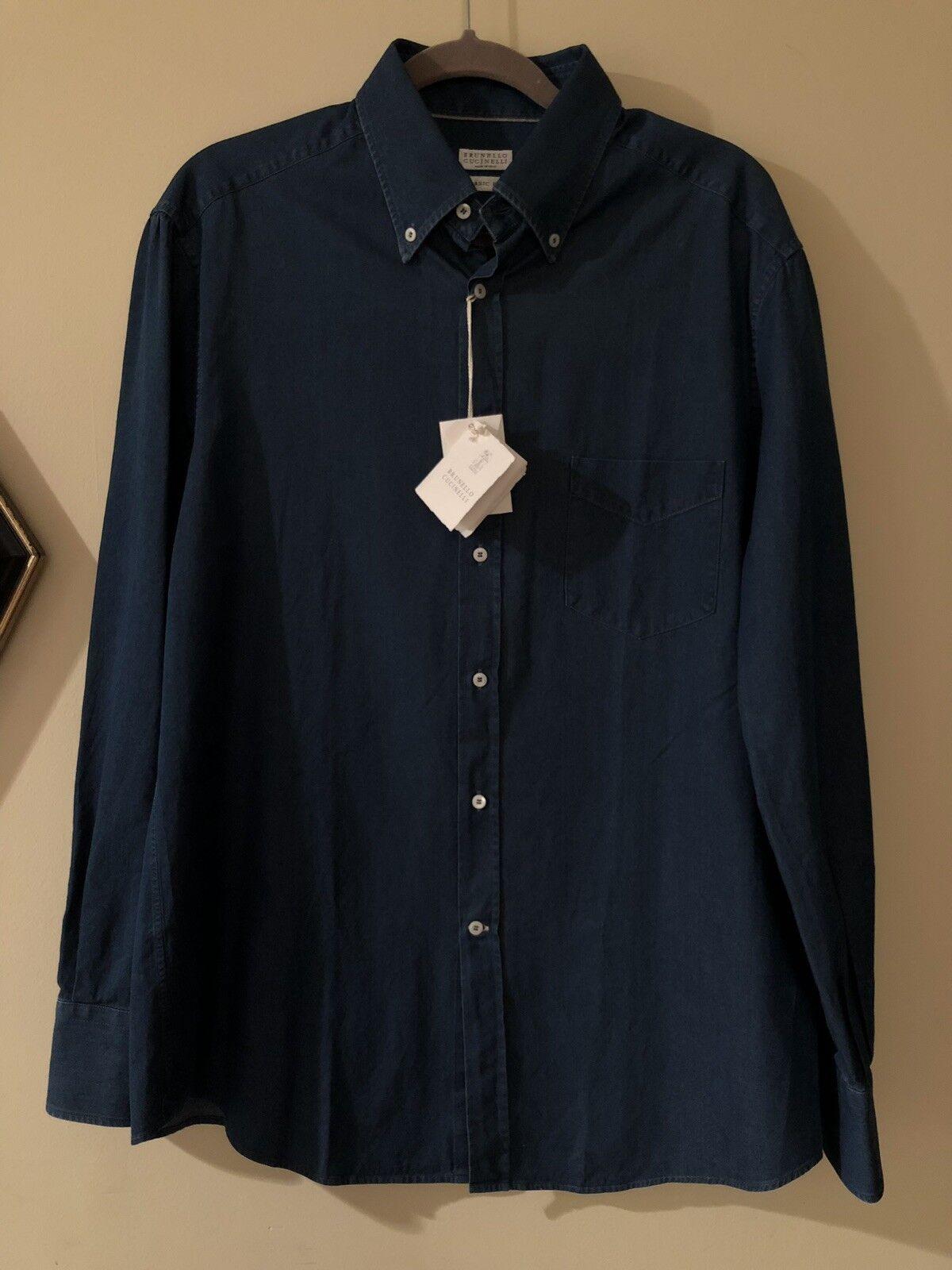 Brunello Cucinelli Denim Shirt,Large NWT