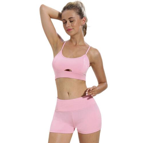 Fashion Women Suit Set Bra Tops+Shorts Fitness Running Yoga Gym Sports ji19