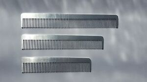 Metal-Pocket-Comb-Professional-Quality-Hairdressing-Barber-Metal-Comb